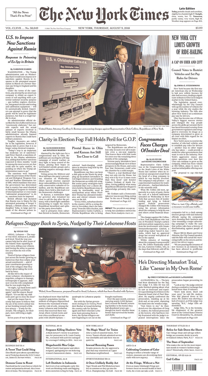 Front Pagenew York Times Design Of: The New York Times Prepares To Introduce New Website Look