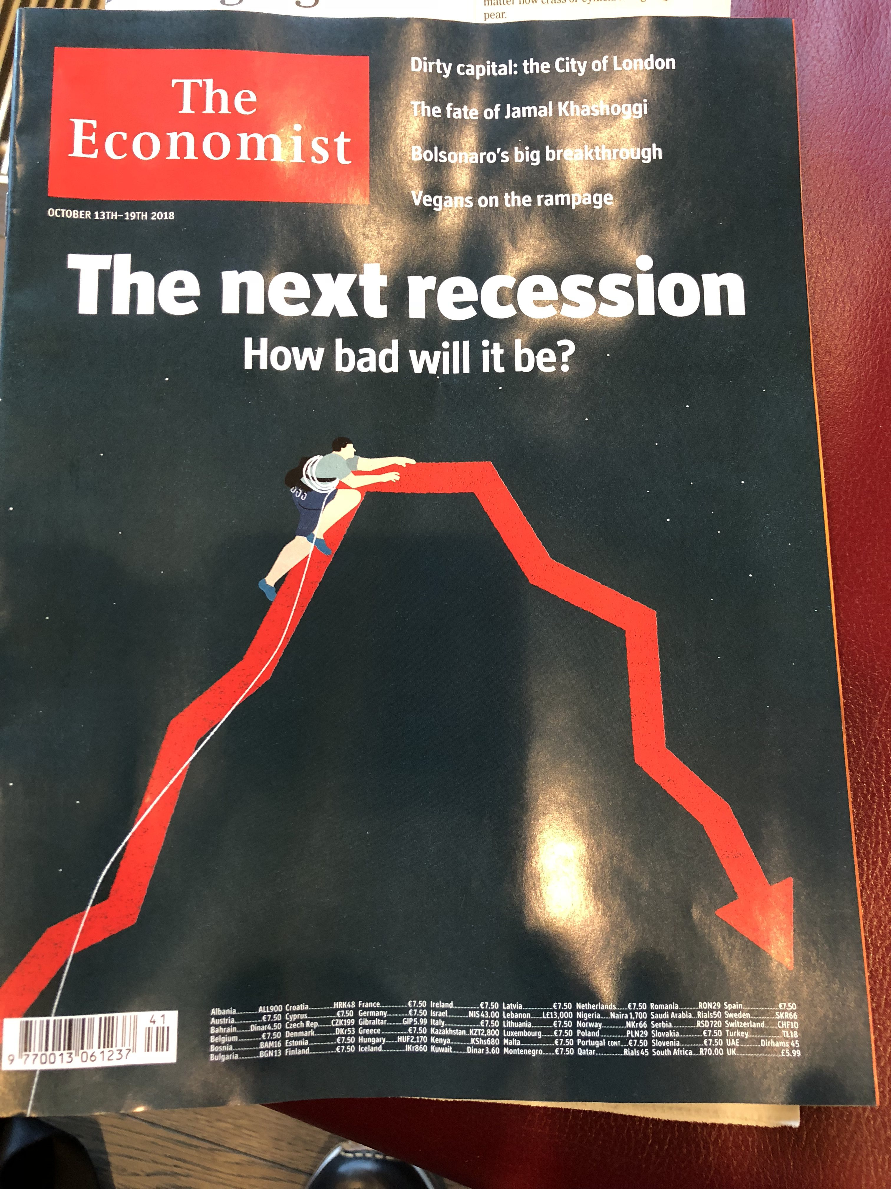 The infographic as cover for The Economist | García Media