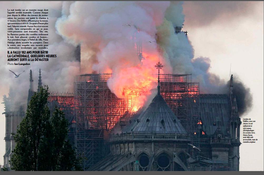 Paris Match coverage of Notre Dame fire   García Media