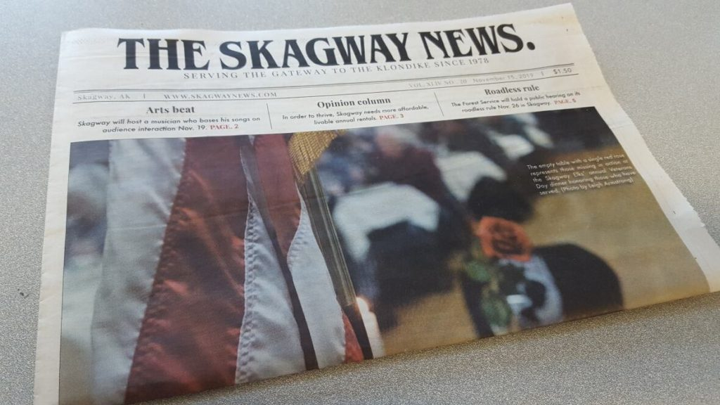 All kinds of dreamy ideas started swimming in my head when I read about The Skagway News and its current owner's generous offer: to give it away for free to someone who cares to keep it going.